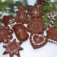 мягкие новогодние игрушки пряники