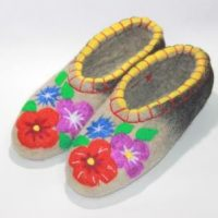 Тапочки цветы 3