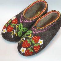тапочки садовая клубника