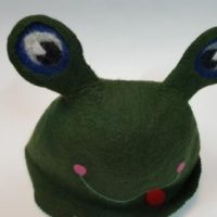 шапка для бани лягушка