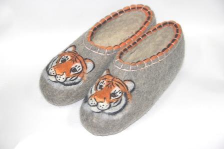 тапочки тигр