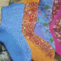 валяные носки с узорами