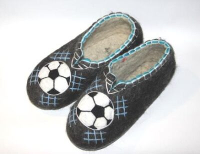 валяные тапочки подарок футболисту