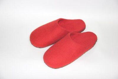 женские тапочки красные с открытой пяткой