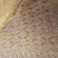 платок пуховый карамель