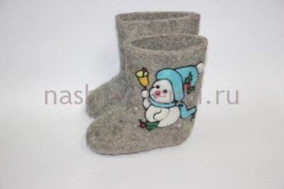 валенки с снеговиком