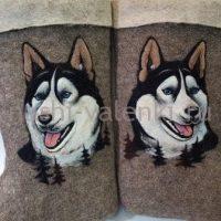 валенки собака хаски