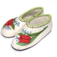 валяные тапочки тюльпаны и ландыши