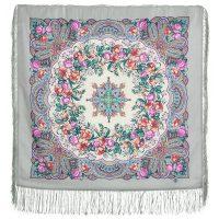 платок русский перепляс-серый