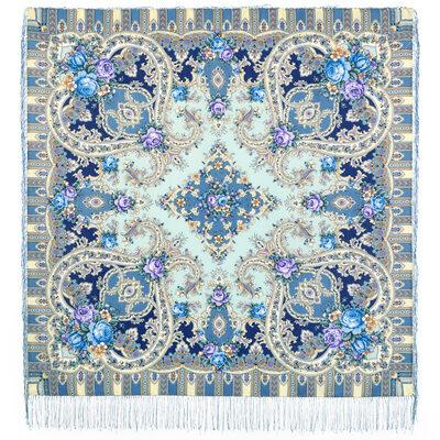 платок таинственный образ голубой