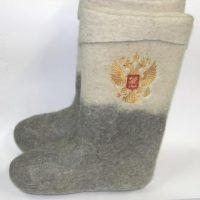 валенки высокие герб россии