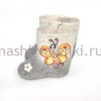 детские валенки самовалки бабочки 3
