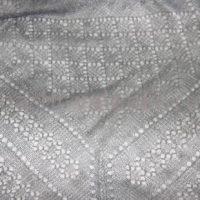 платок пуховый серый
