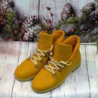 ботинки валяные рыжие