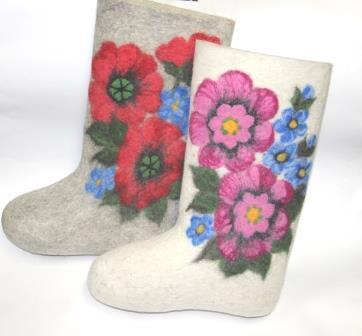 валенки с вышивкой цветы