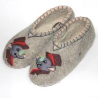 мужские валяные тапочки деловой крыс