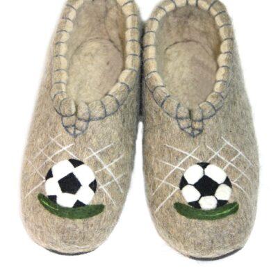 Валяные тапочки Подарок Футболисту.