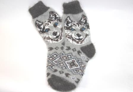 шерстяные носки хаски
