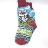 шерстяные носки мышка