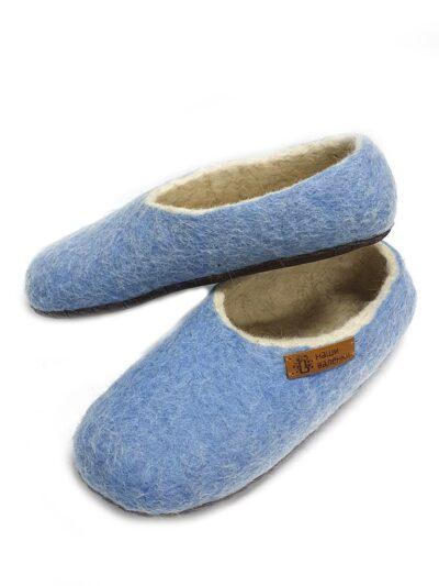 Цветные валяные тапочки Синева.