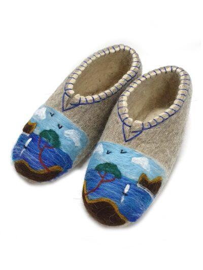 валяные тапочки море