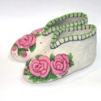 женские валенки для дома розовые розы