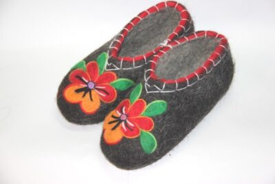 женские валяные тапочки для бабушки