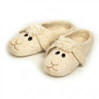 валяные тапочки овечки