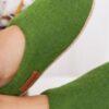 Валяные тапочки WOOLISH Premium цвета Яблоко.